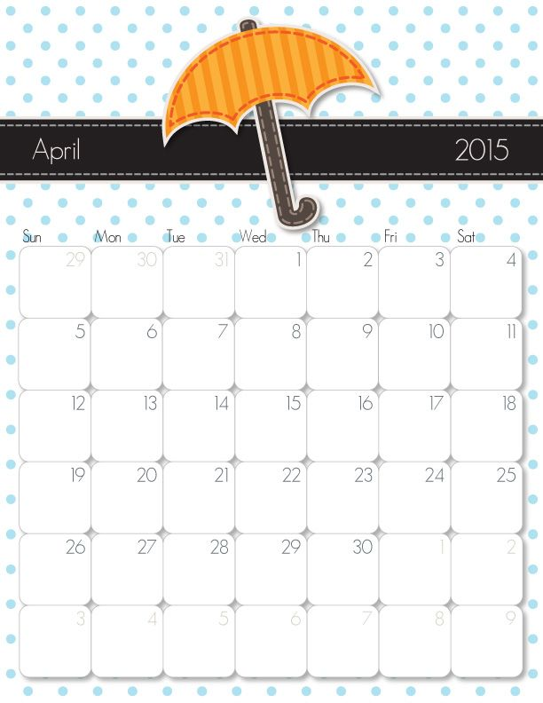 Printable Cute Calendars  Calendar Template