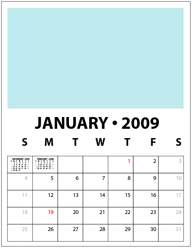 2009 Calendar Template Â« Kelso's Corner