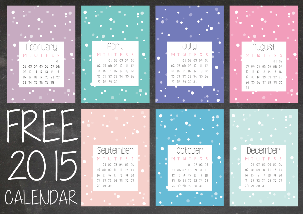 2015 Calendar    Free Download