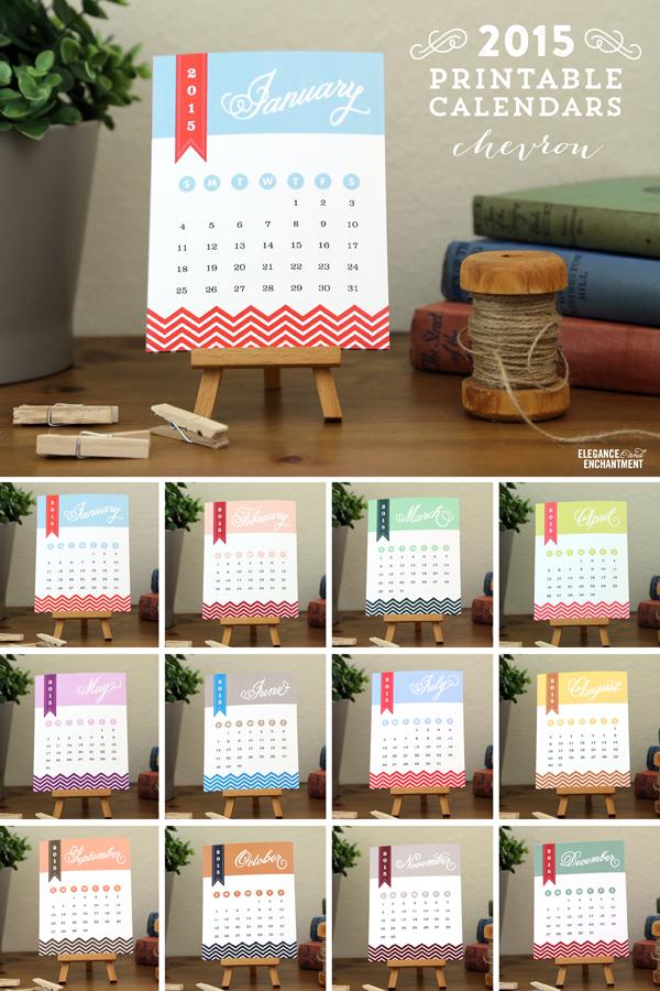 2015 Desk Calendar Printables