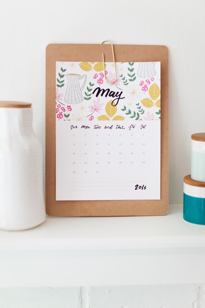 2016 Calendar (free Printable!)