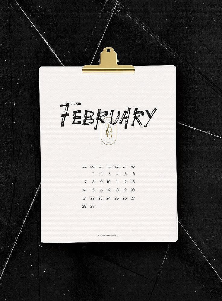 2016 Free Printable Calendars Popsugar Australia Smart  2016 Free