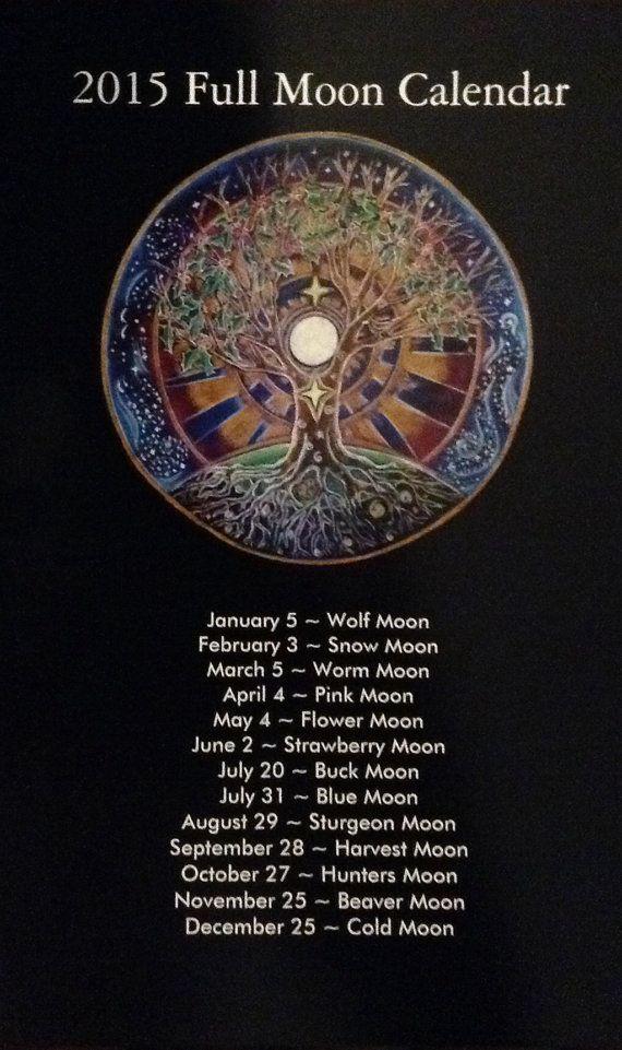 2016 Full Moon Calendar Tree Of Life Mandala