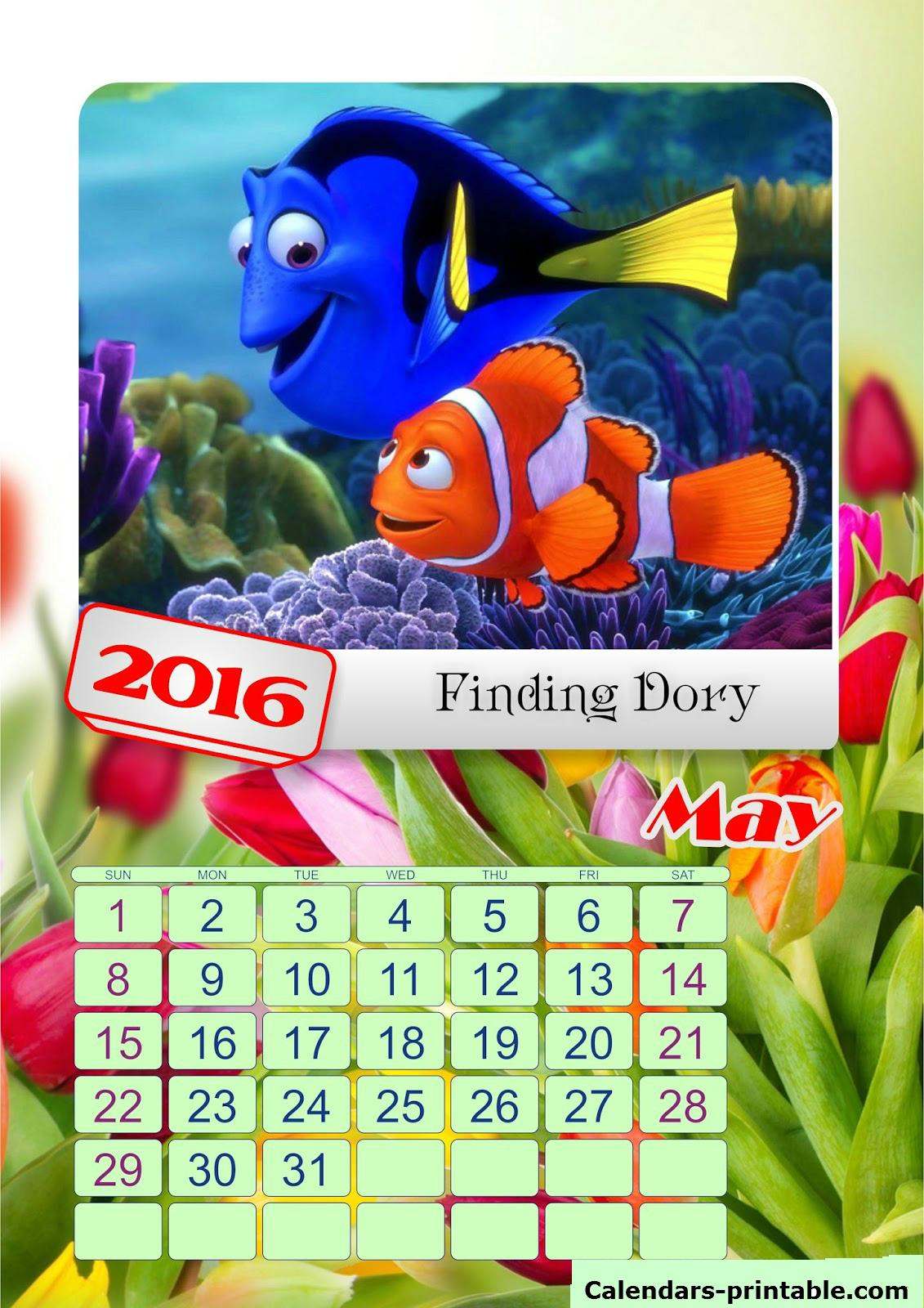 2016 May Calendar For Kids