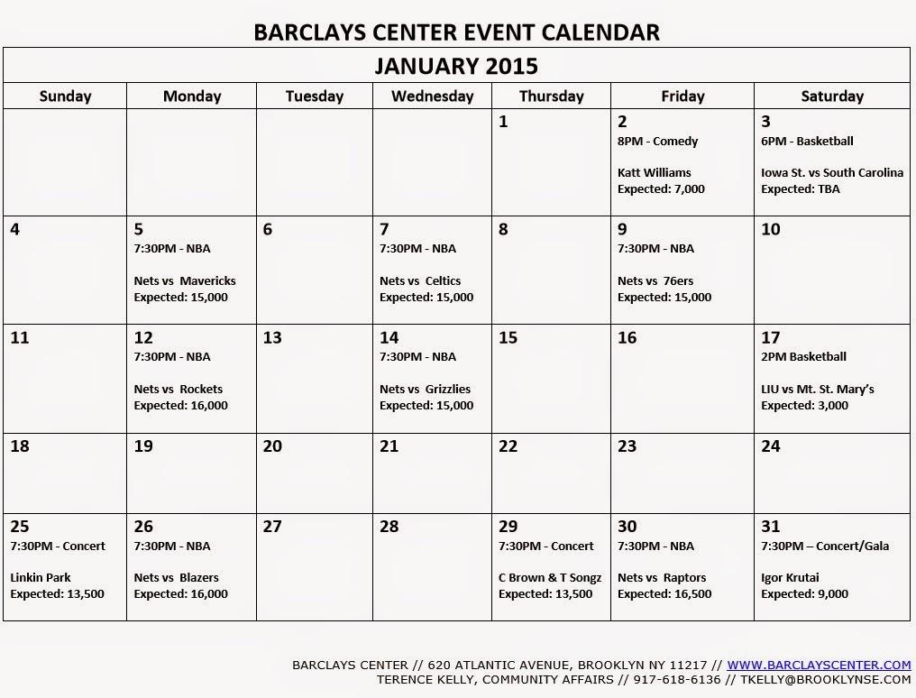 printable event calendar