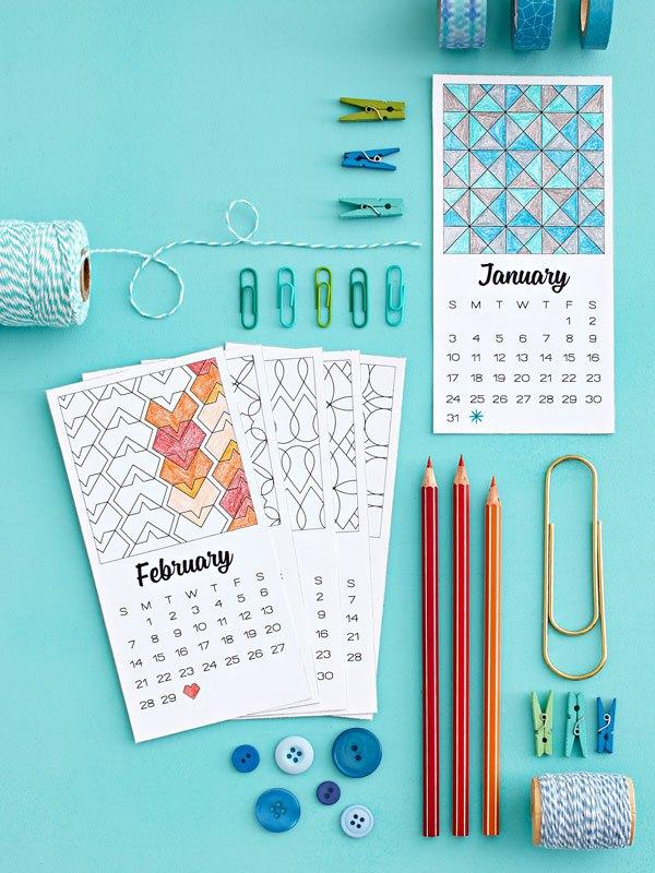 Calendar Booklet 2018 : Printable calendar booklet template