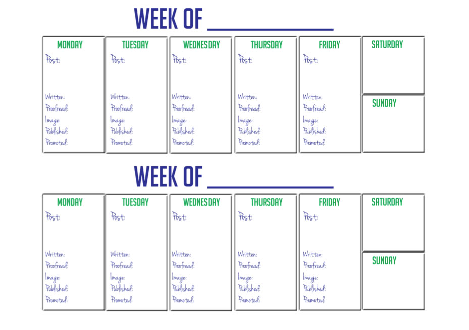 2 Week Calendar Template  Printable 2 Week Blank Calendar Template
