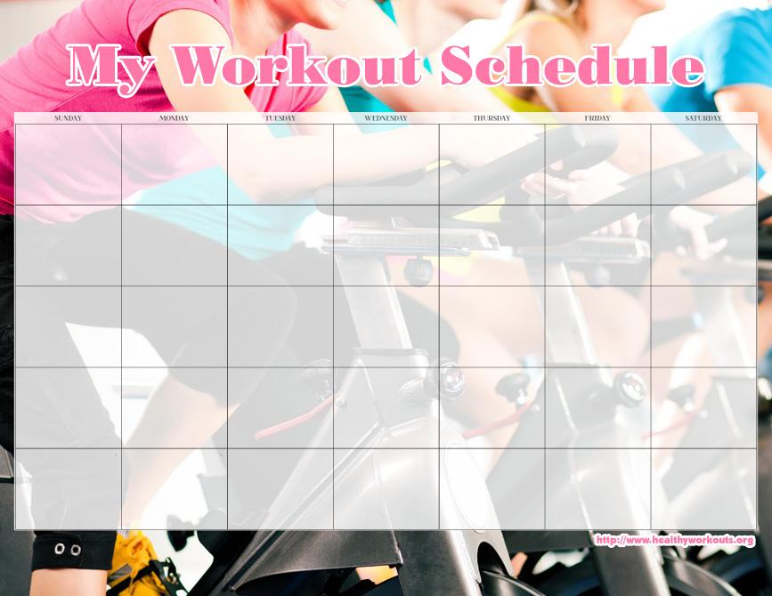 31 Free Printable Exercise Calendars