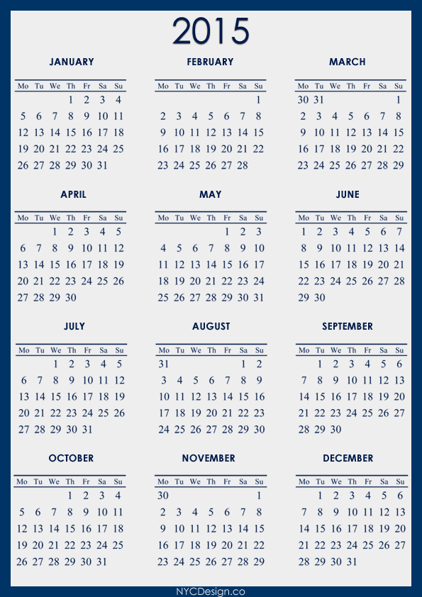 4 Best Images Of Fiscal Year Calendar 2015 Printable