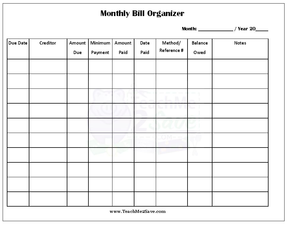 4 Best Images Of Free Printable Bill Calendar