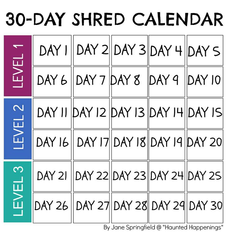 30 Day Calendar Printable » Calendar Template 2017