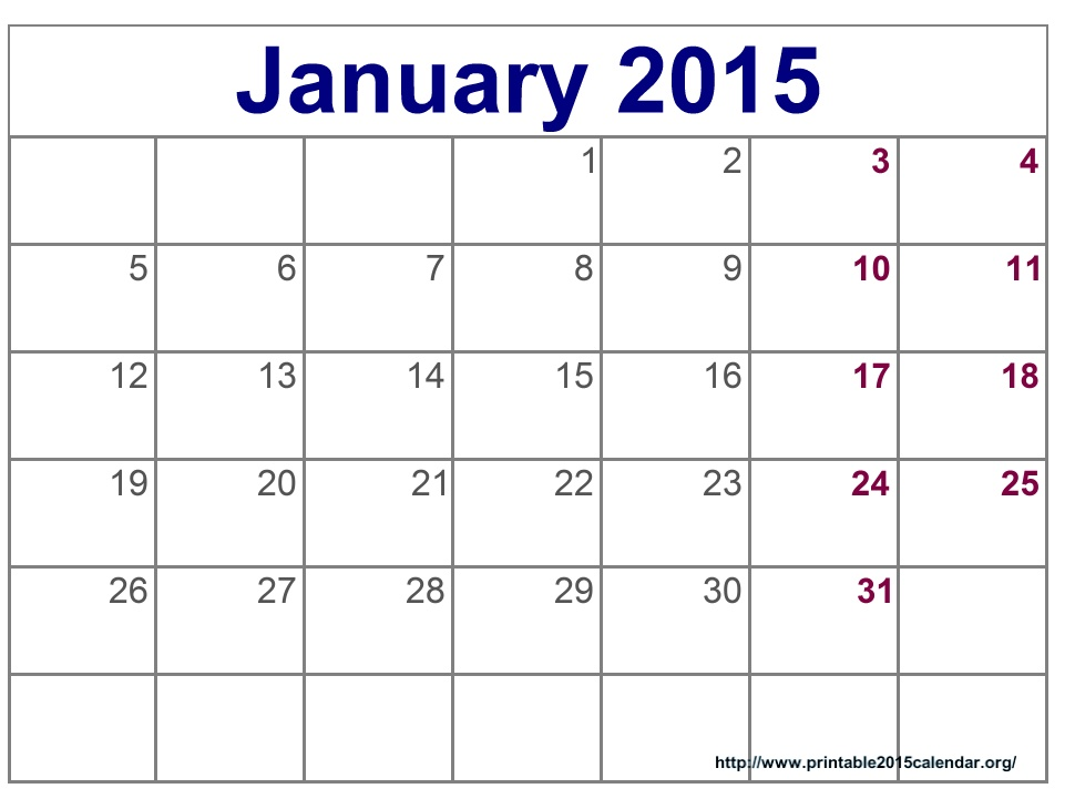 5 Best Images Of Calendar 2015 Printable December January 2016
