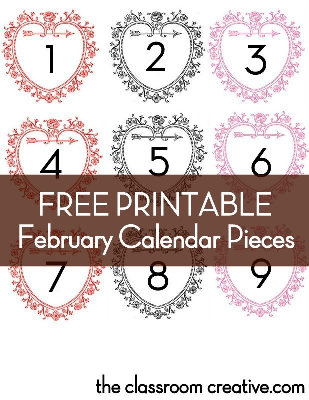 5 Best Images Of Printable February Calendar Numbers