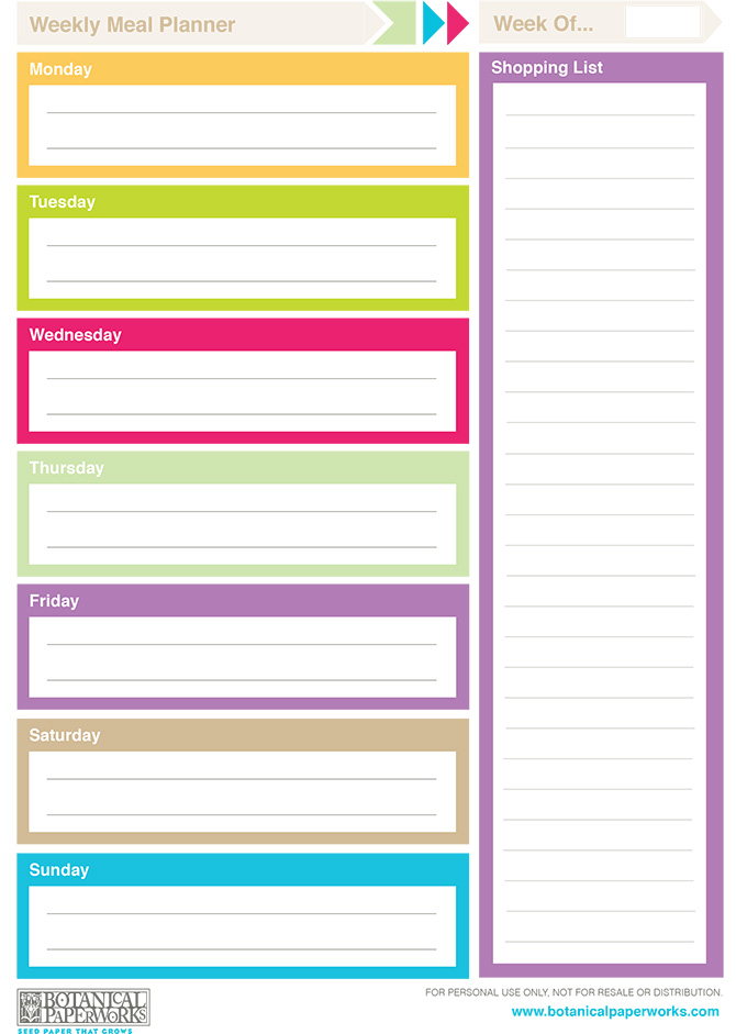 5 Best Images Of Printable Weekly Planner