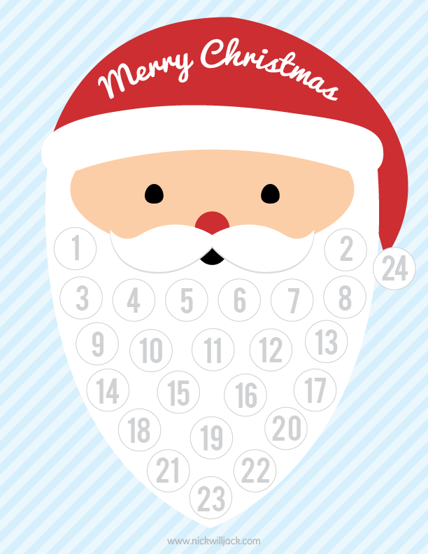 5 Best Images Of Santa Countdown Calendar 2015 Printable