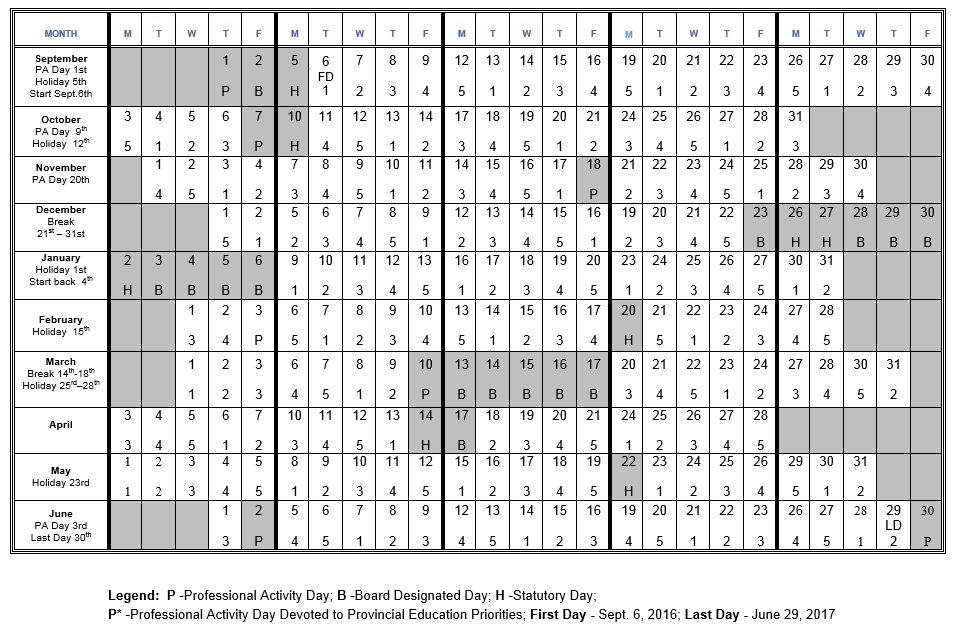 5 Day Cycle Calendar