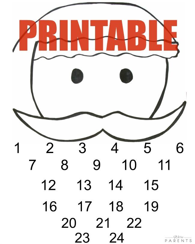 5 Minute Santa Diy Advent Calendar