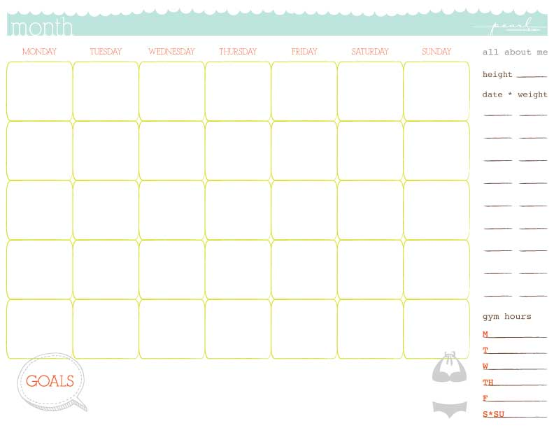 5 Workout Calendar Templates