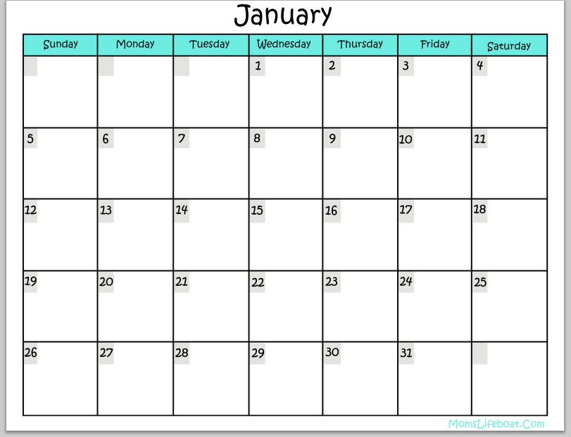 6 Best Images Of 12 Month Calendar Printable Free