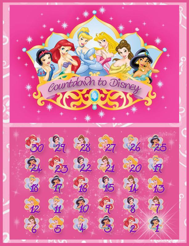 6 Best Images Of Disney Countdown Calendar Printable