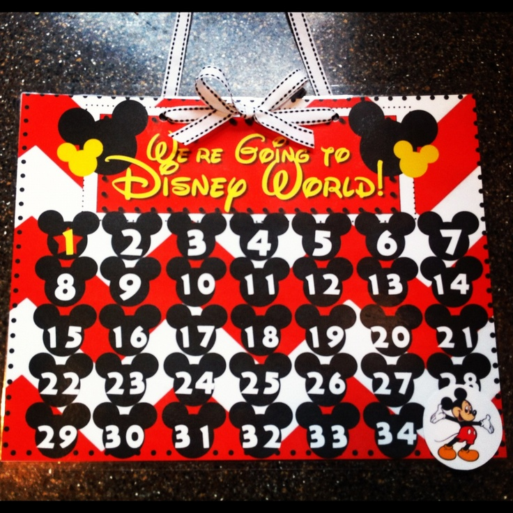 6 Best Images Of Disney Countdown Calendar Printable