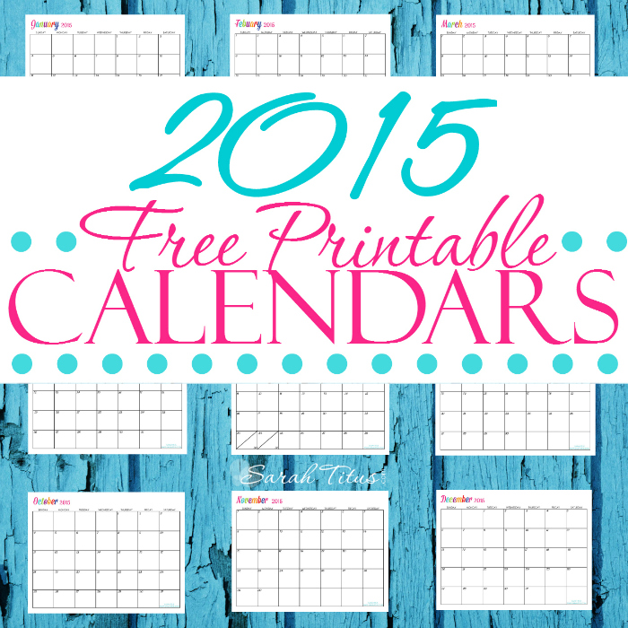 6 Best Images Of Editorial Calendar 2015 Printable