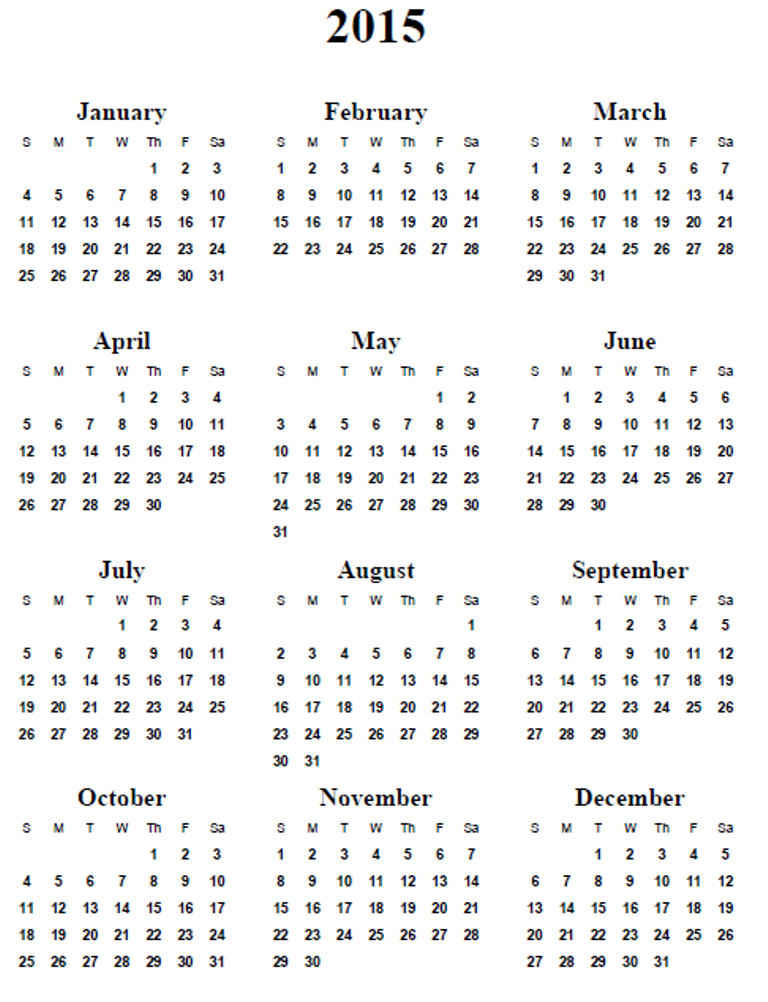 6 Best Images Of Free Online Printable Calendars 2015