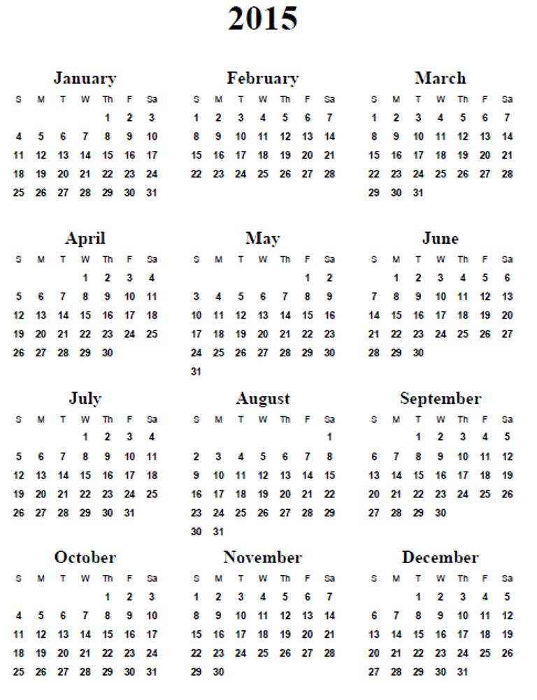 6 Best Images Of Free Online Printable Calendars 2015