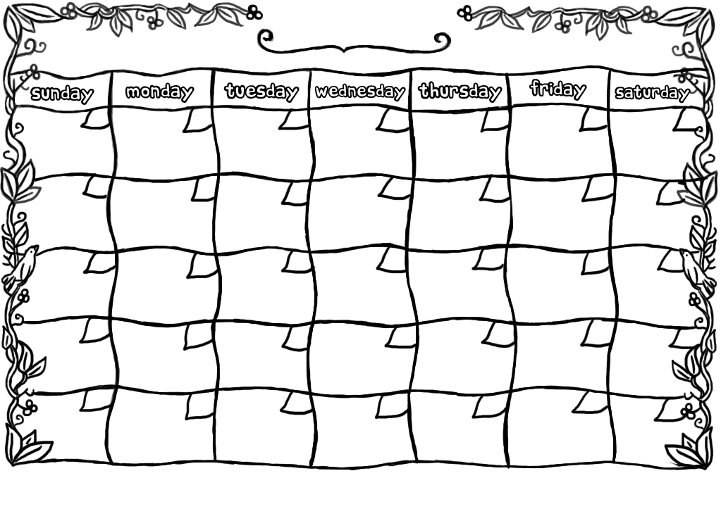 6 Best Images Of Free Printable Blank Calendars 2016