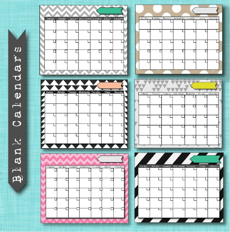 6 Best Images Of Free Printable Calendar Templates