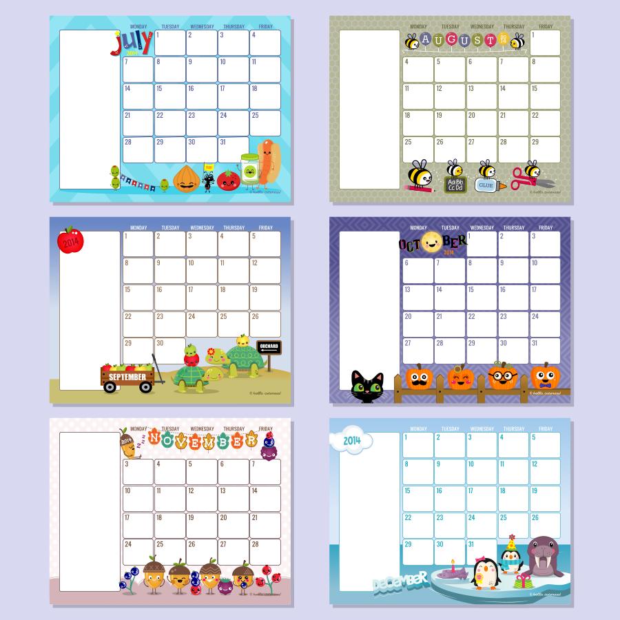 6 Best Images Of Free Printable Preschool Calendar Template 2016