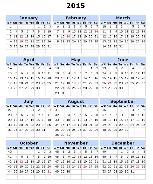 Calendar Template Numbers Yearly Calendar Template For 2016 And