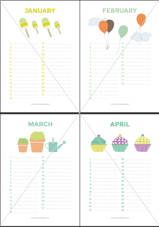 7 Best Images Of Cute Free Printable Birthday Calendar