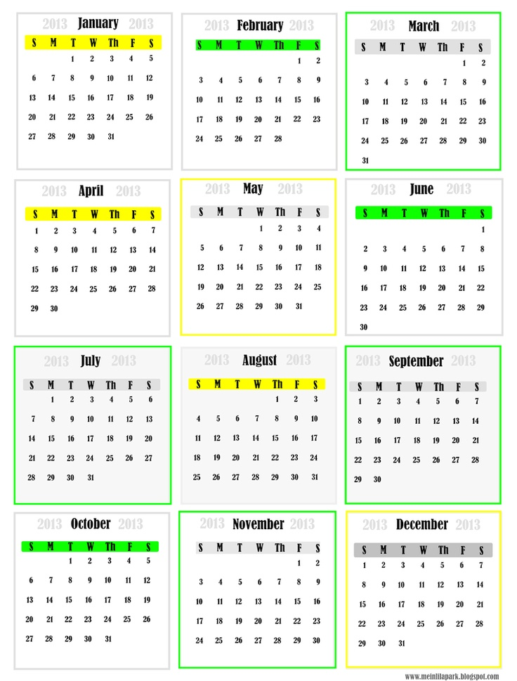 7 Best Images Of Free Printable Mini Calendar 2014