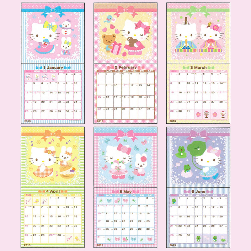 7 Best Images Of Hello Kitty 2015 Calendar Printable