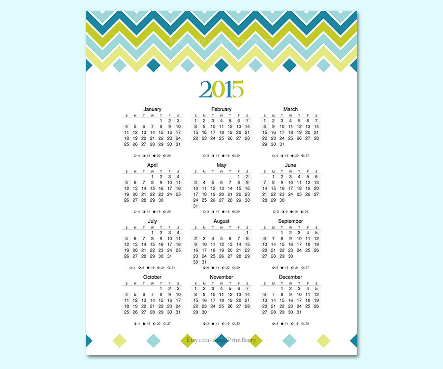 7 Best Images Of Printable 2015 Wall Calendar