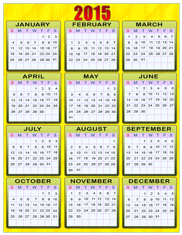 7 Best Images Of Printable 3 Year Calendar 2015