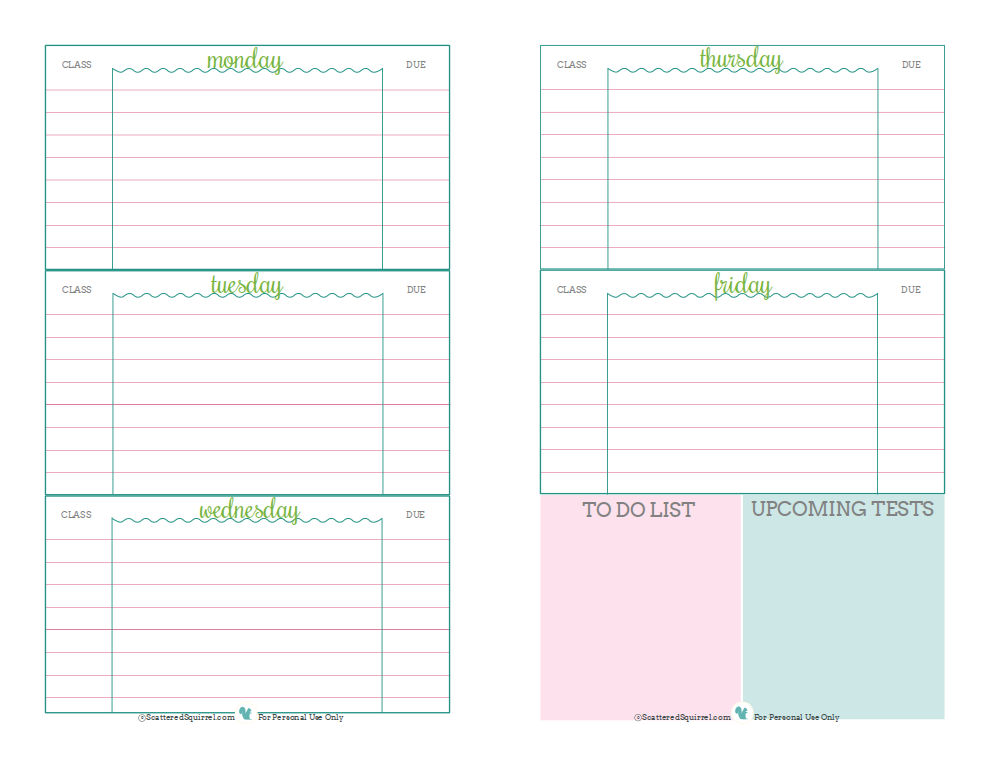 7 Best Images Of Printable Calendars For College Students