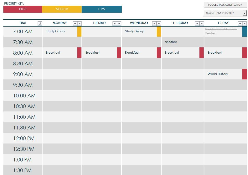 7 Best Images Of Printable Class Schedule Maker