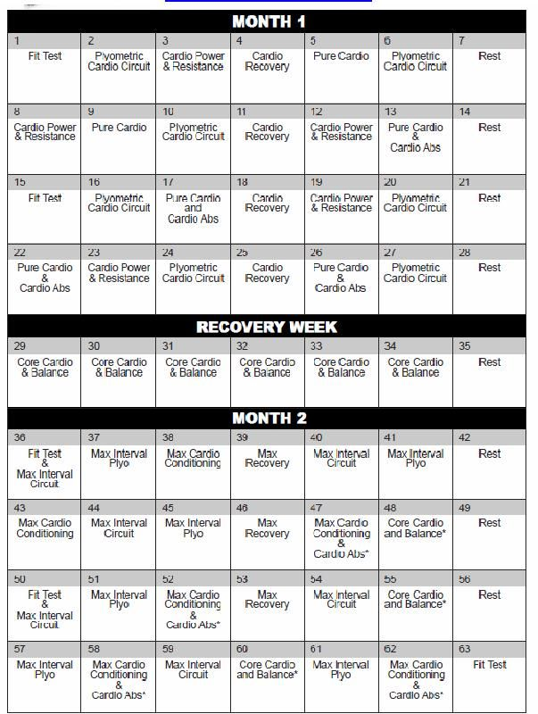 7 Best Images Of Printable Insanity Workout Schedule