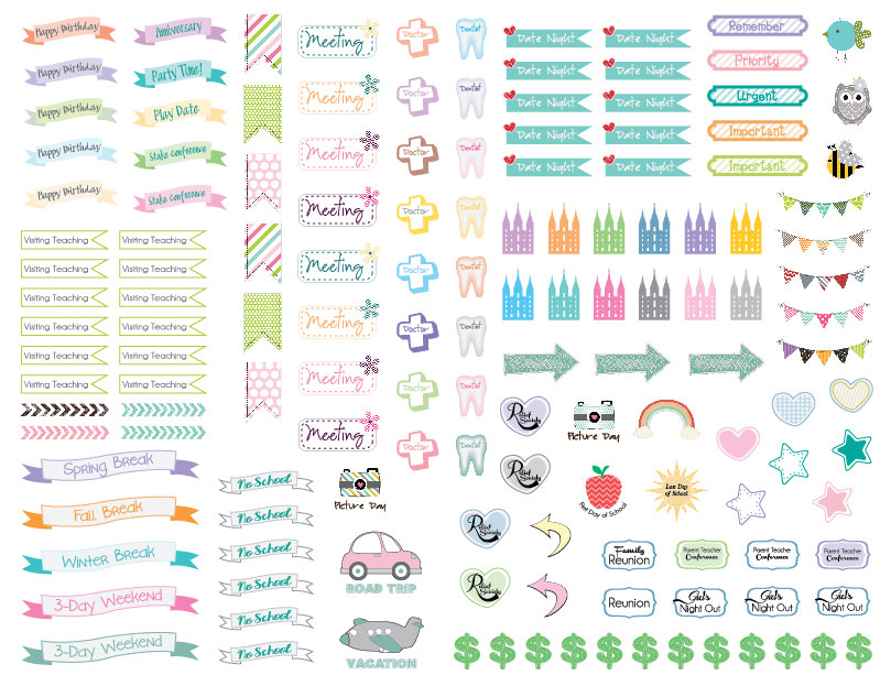 7 Best Images Of Reminder Stickers Planner Printable