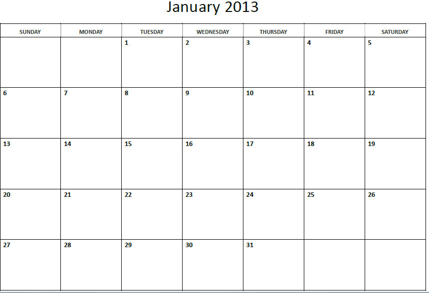 8 Best Images Of 2012 2013 Monthly Printable Calendar