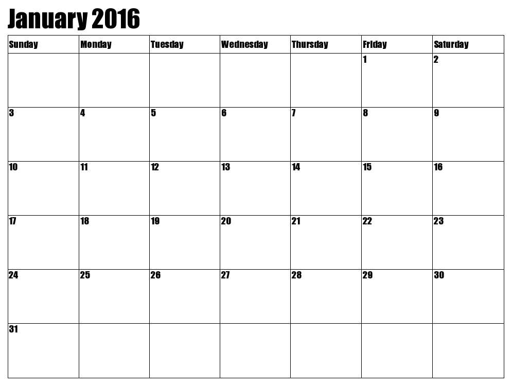 8 Best Images Of 2016 Calendar Printable January Through December