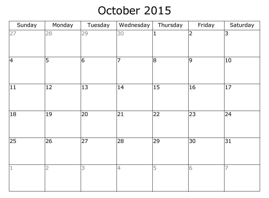 8 Best Images Of 2 Month Calendar Printable Sept Oct 2015