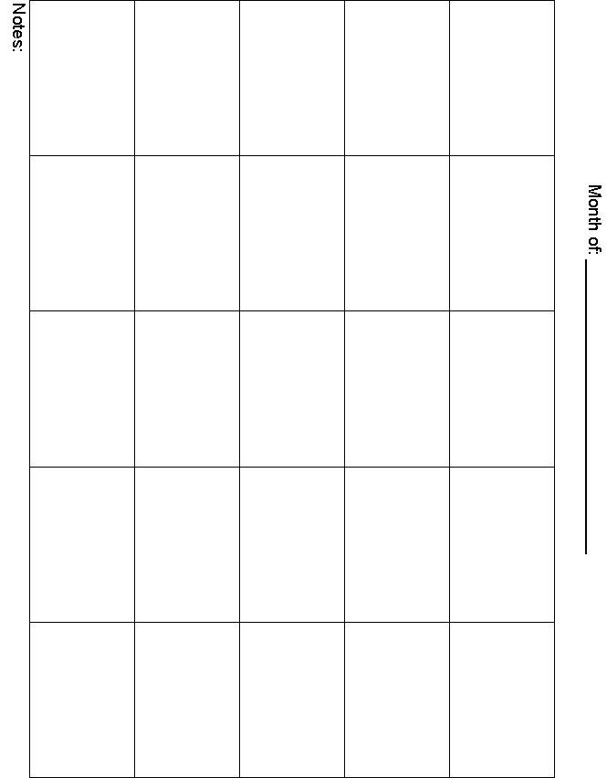 8 Best Images Of 5 Day Week Blank Calendar Printable