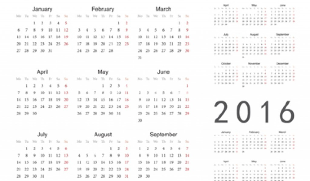 8 Best Images Of Excel Calendar 2016 Printable Year At A Glance