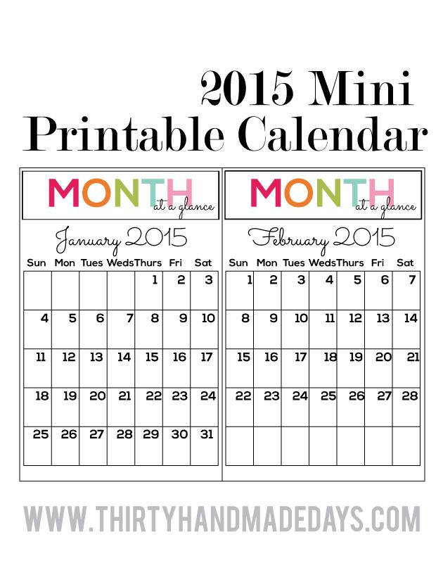 8 Best Images Of Free Printable 2015 Pocket Calendar