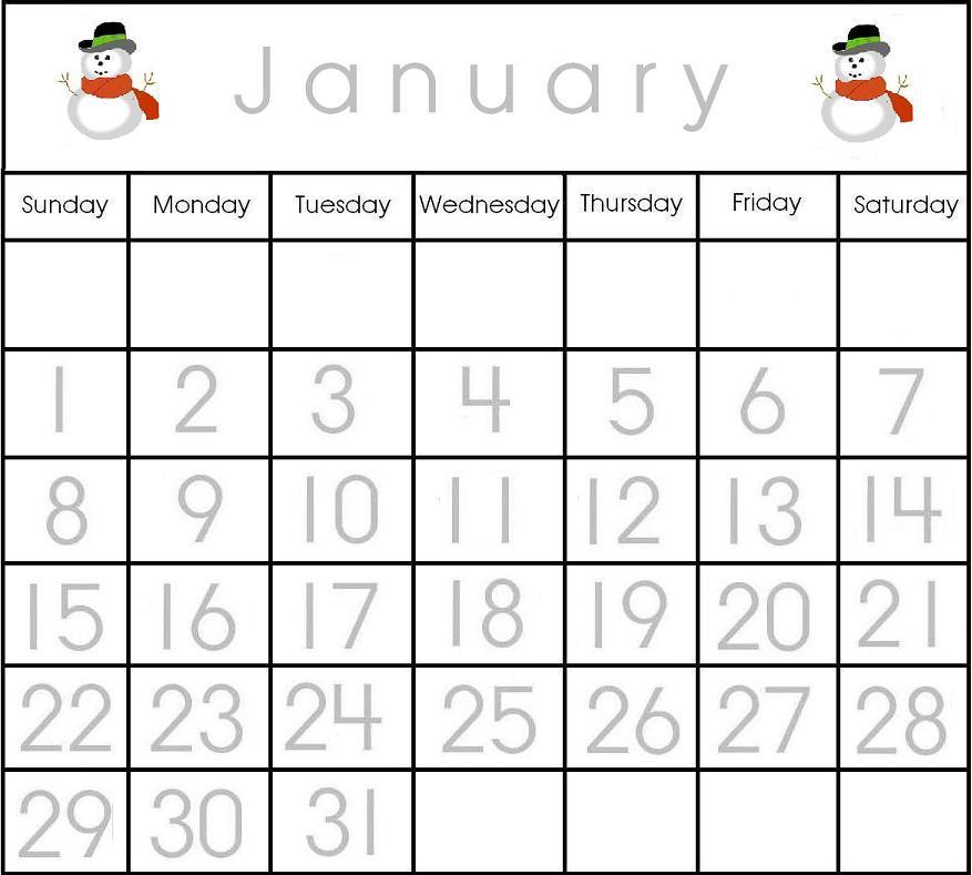 Printable Calendars For Kids Calendar Template 2018