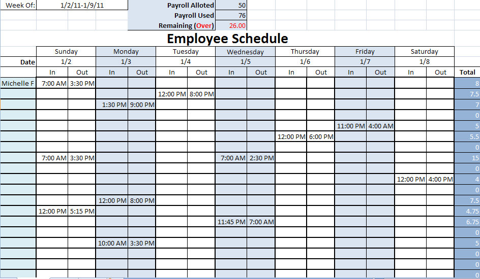 8 Best Images Of Printable Employee Work Calendar Template