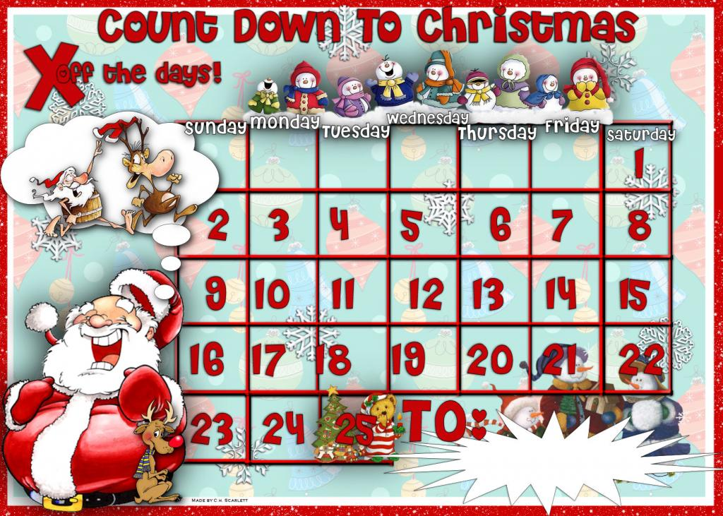 8 Best Images Of Xmas Countdown Calendar Printable